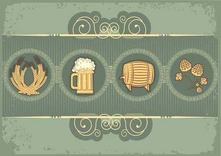 Bier background.grunge postrard voor tekst