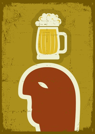 fatness:  Human passion about beer.symbol of alcohol