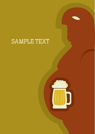 Human passion about beer.symbol of alcohol Vector