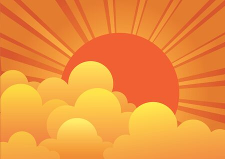 sunrise clouds:  sky with sun and beautiful clouds.image