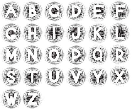 Vector English alphabet on white background Stock Vector - 10101344