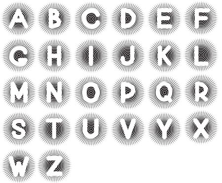 Vector English alphabet on white background Stock Vector - 10101344