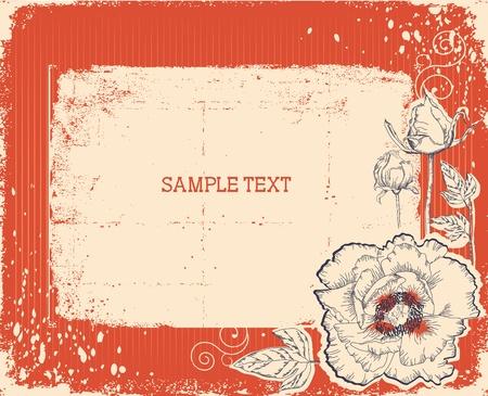 fondos colores pastel: Postal floral con dulces de chocolate.Fondo vintage vector  Vectores