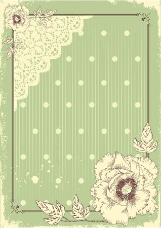 Floral postcard vintage background in pastel colors for text Stock Vector - 10421314