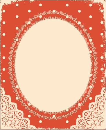 vintage background with vintage frame and decoration for design Stock Vector - 10421312