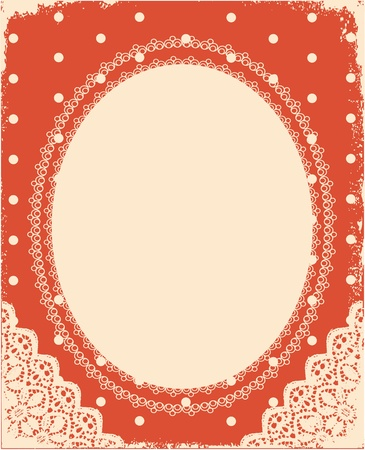 vintage background with vintage frame and decoration for design Stock Vector - 10421312