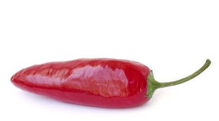 red jalapeno: Red chilli pepper on white background for design