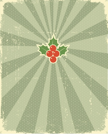 old fashioned christmas:  Christmas card with holiday elements for design.Vintage background