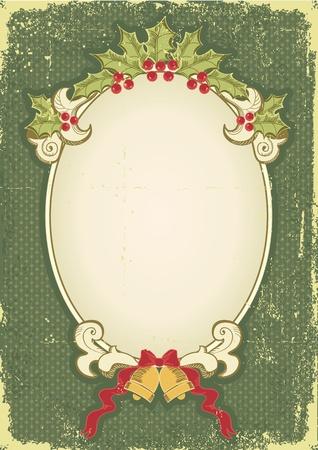 Vintage Christmas Card für Design mit Urlaub elements.Vintage Hintergrund