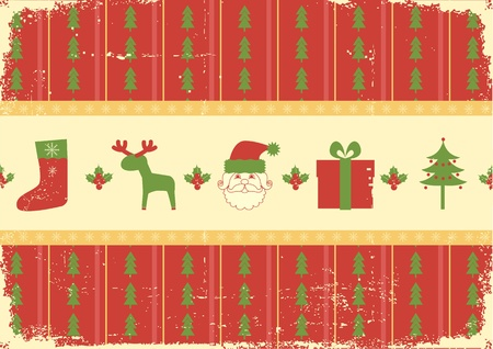 Vintage christmas background card for winter holiday Vector