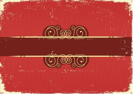 old fashioned: Vintage red Christmas card .Vintage background Illustration
