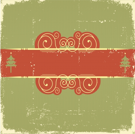 Vintage Christmas card .Vintage background Stock Vector - 10802883