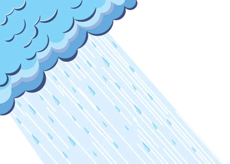 Illustration of raining cloud.Vector blue sky Stock Vector - 11864856