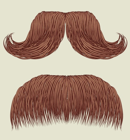 Mustaches for man.Vector collection for design Vector