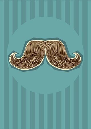 mustaches background. illustration for design Vector