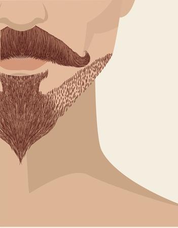 bearded man: bearded man face background. illustration for design Illustration