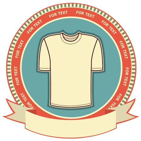 Clothes label set on white Vector t-shirt background Stock Vector - 12490574