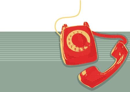 telefono antico: Retro telefono grunge poster background per il testo