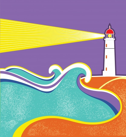 searchlight: Seascape horizon. Illustration