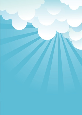 Blue sky with beautifull clouds.Vector image Stock Vector - 14997411