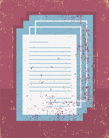 Office papers Grunge symbol on old paper texture  Stock Vector - 15917218