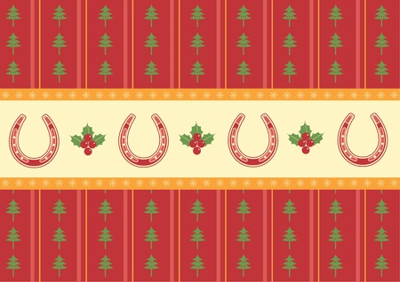 christmas decoration background.Vector red card for design Vector