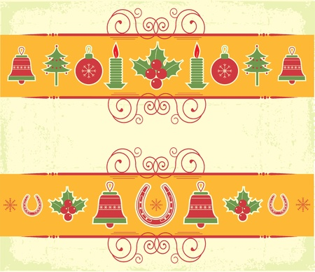 christmas decor elements for design.New year image Vector