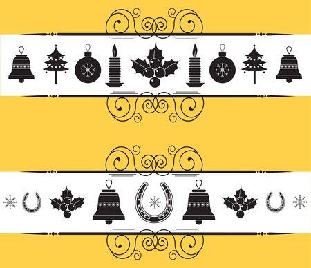 christmas decor elements for design.New year back graphic image  Vector
