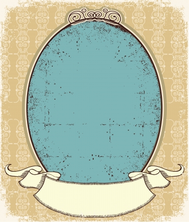 Vintage frame background for desing  Illustration