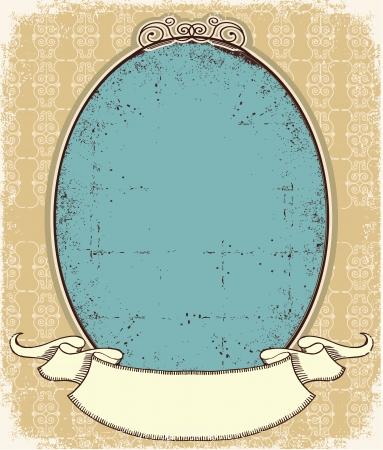 label frame: Vintage frame background for desing  Illustration