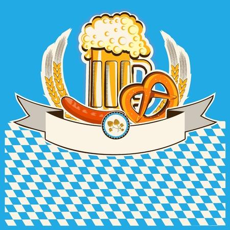 beer card: Beer card. Illustration