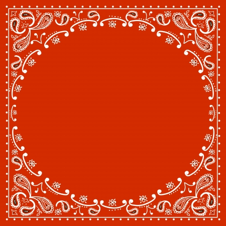red cowboy bandanna.Vector illustration Иллюстрация