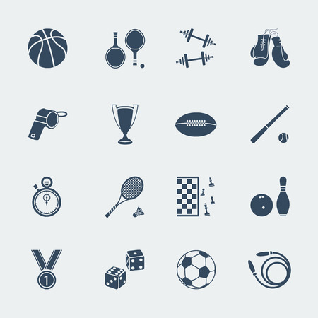 ivories: Sport equipments of flat design.Vector isolated for web
