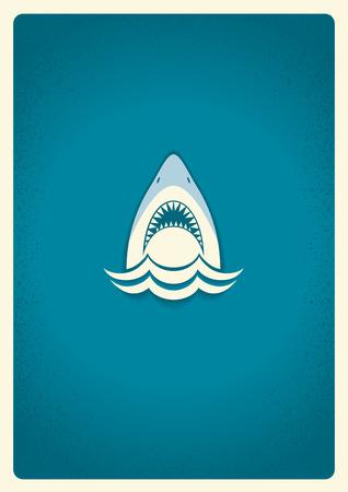 サメの顎のアイコン。