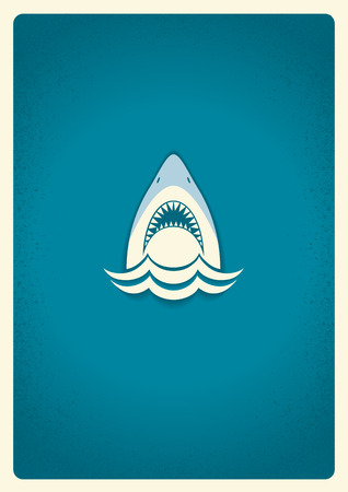 Shark jaws icon.