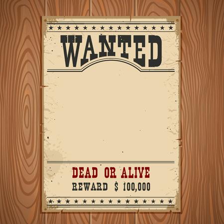 Voluto poster su struttura di parete di legno per la carta annata portrait.Western