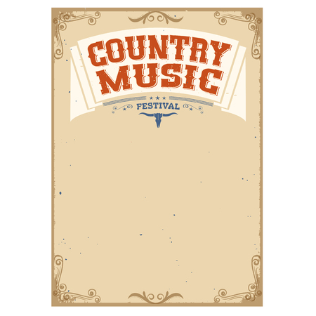 the country: Country music festival background for text.Poster isolated on white