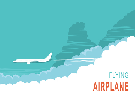 air plane: Aircraft and sky.Vector background illustration for text Illustration