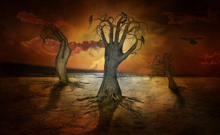 creepy looking trees