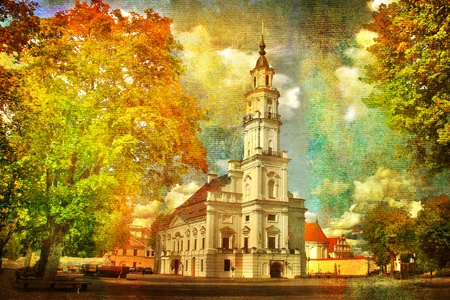 manipulate: City Hall in autumn