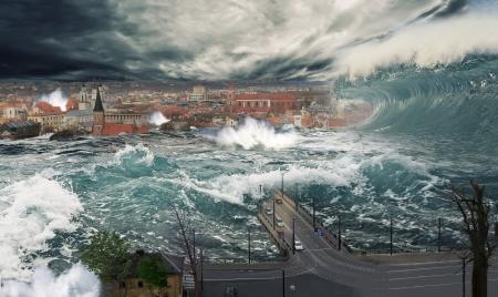 カウナスの洪水 写真素材