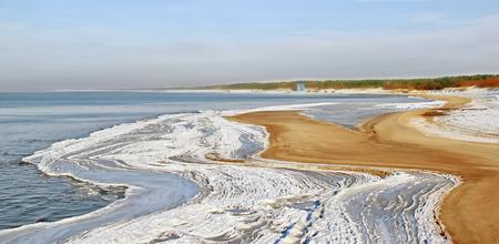 baltic: Beach in winter Stock Photo