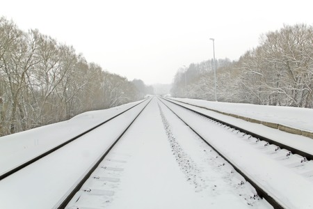 kaunas: tracks in the fog