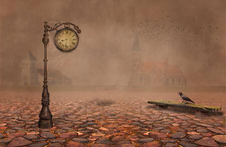 sear: behind time