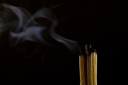 burned match