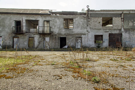 bombed city: Abandoned building