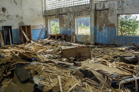 bombed city: Abandoned house Stock Photo