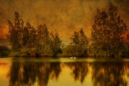 sear: mystic lake Stock Photo