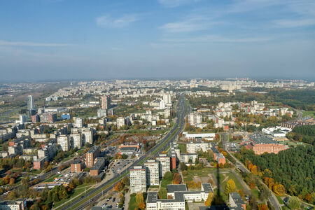 multi storey: Vilnius view Stock Photo