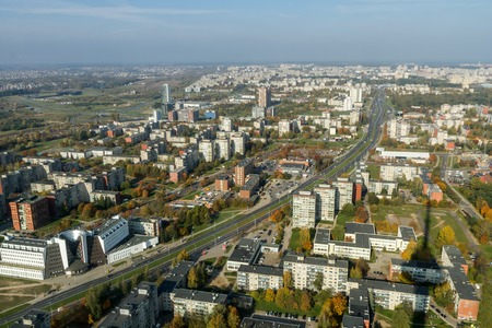 tv tower: view of the city from the TV tower
